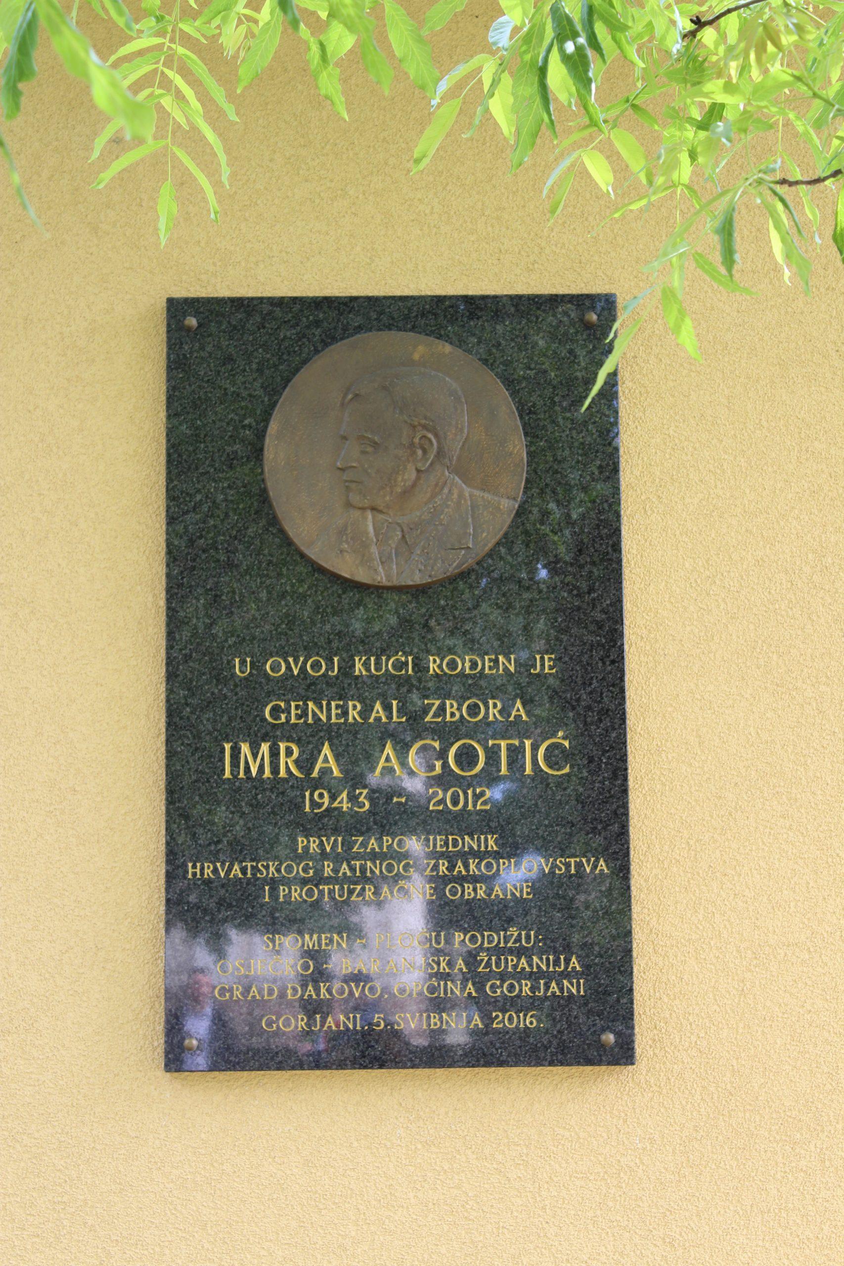 Sjećanje na generala Imru Agotića
